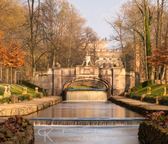 Ludwigluster Schlosspark - Steinerne Brücke - Ludwigsluster Kan